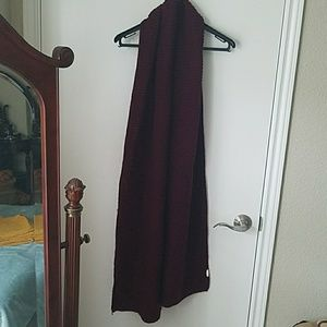 ZARA thick knit maroon scarf