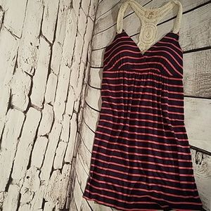 Pink Republic striped dress size extra small
