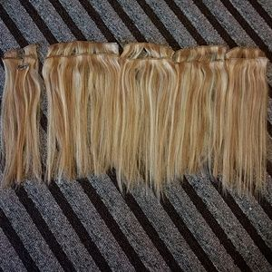 Sally S Accessories Lt Blonde Verigated Human Hair Clip In Extensions Poshmark