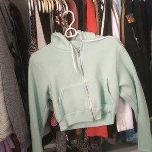 d6fe7df879 ... mint green crop top sweater cardigan black ...