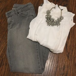 So Brand Gray Washed Jeans Size 3/5 NWOT