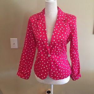 Hot pink polka dot summer blazer