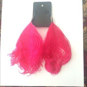 Jewelry - Ostrich feather earrings