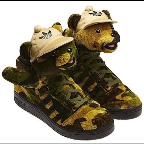 Camo schoenen Adidas schoen Jeremy Scott Bear X x6q4wInv