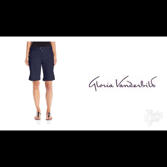 a77de201dd Gloria Vanderbilt Shorts | Sierra Twill Short With Belt | Poshmark