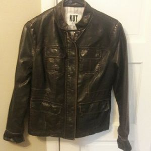 Kut (kut from the kloth) faux leather jacket