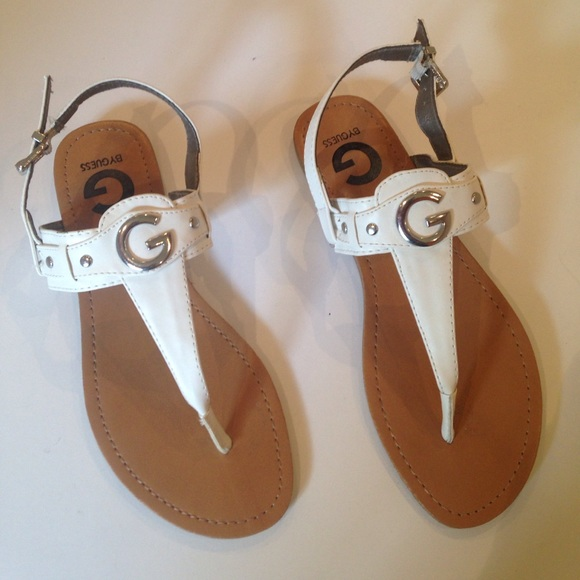 76c8aeb438c0 G by Guess Shoes - GUESS White Flats Sandals 7M
