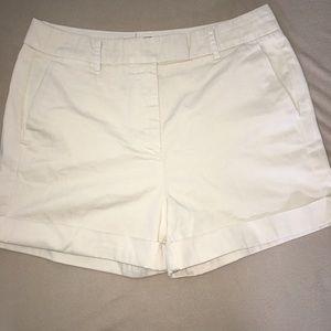 J. Crew white shorts size 6