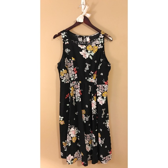 6fde2646a82a4 🆕Black Floral Sleeveless Maternity Dress. M_5974fc519c6fcfa50703955b