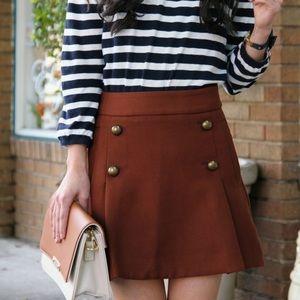 {express} 🌿 button up sailor brown skirt
