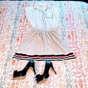 Polka Dot and Stripe Flouncy Skirt