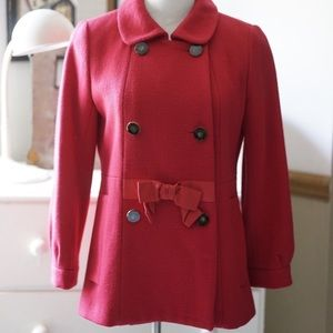 Marc by Marc Jacobs 6 button red peacoat. Size. M.