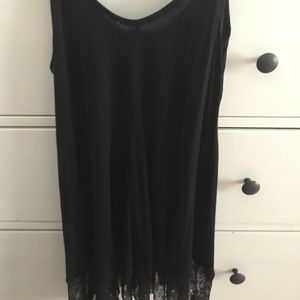 Long tank top with lace at bottom !
