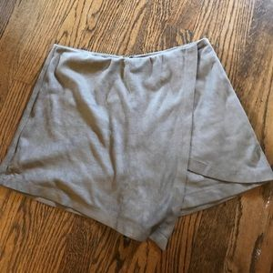 Suede envelope skirt