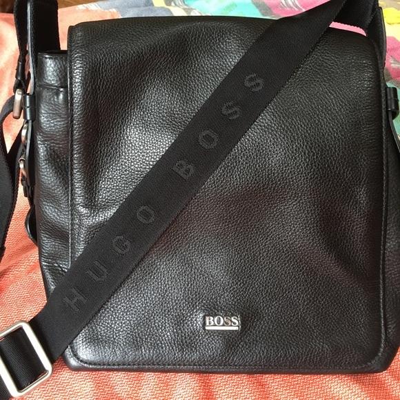 b603a3f43d Hugo Boss Other - Hugo Boss men's leather crossbody bag
