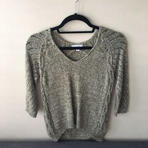 New York & Company Green Knit Sweater