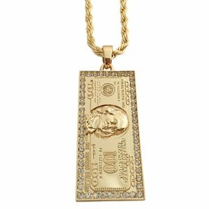 "Other - Large 100 Dollar $100 Pendant & 36"" Rope chain"