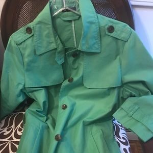 Gap green trench coat size large