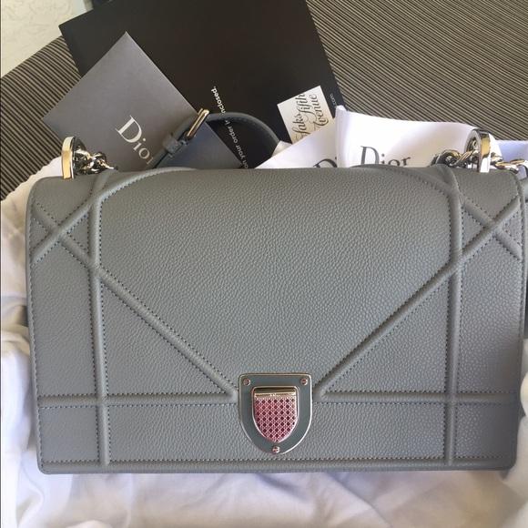 12e450264176 Dior Handbags - Dior Diorama Bag in Gris Dior Grained Calfskin