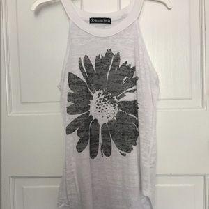 black sunflower halter top