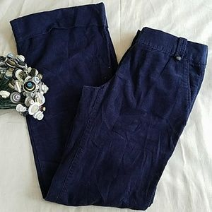 J.Crew City Fit Cuffed Wide Leg Cords