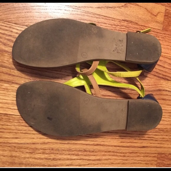 GAP Shoes - GAP neon and tan sandals