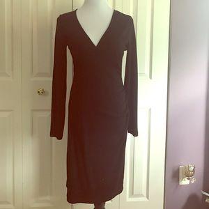 Banana Republic Black Faux Wrap Dress, size M