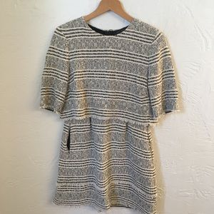 Zara Woman tweed dress with front pockets