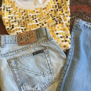 Size 10 lucky brand capris sweet fit dungarees