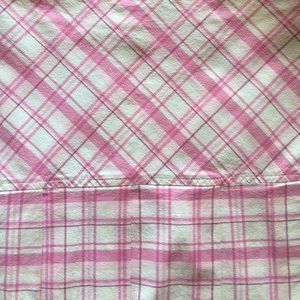 Pink and White Plaid Textile