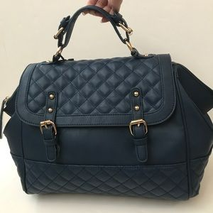 Large quilted flap bag