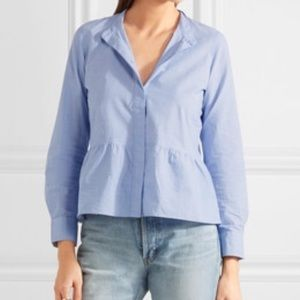 Madewell 100% Cotton Peplum Button Up Shirt