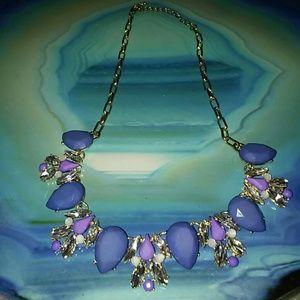 Purple Periwinkle Statement Necklace