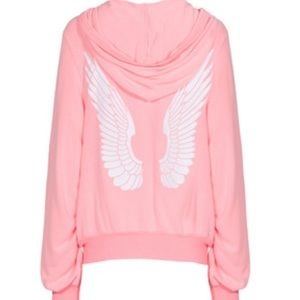 Wildfox Only A Dream Malibu Angel Zip Up Hoodie