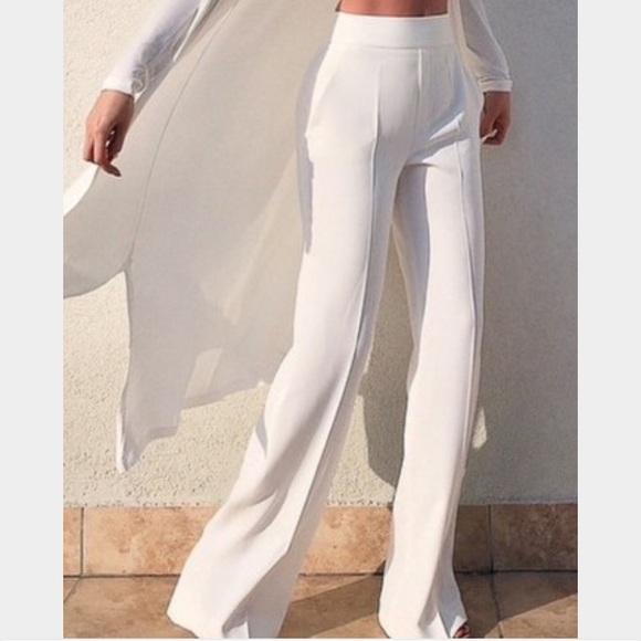 0f246ff0 Zara Pants | White High Waisted Wide Leg Xs Nwt | Poshmark