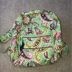 Vera Bradley light green backpack!!