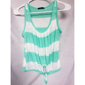 Soprano Striped Tie Tank