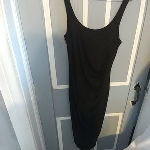 Little Black Dress with ruching on front