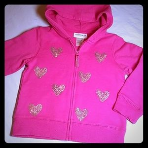 Other - Toddler Hoodie with Silver Sequin Hearts 2T