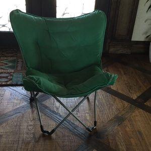 Mint green lounge chair