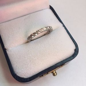 Jewelry - Diamond and Platinum Wedding Band, Size 5