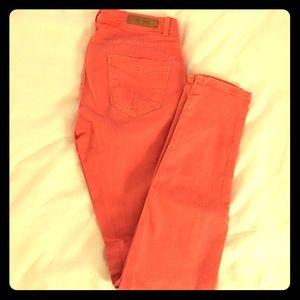 Zara Salmon Skinny Jeans