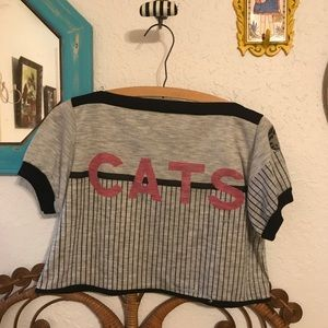 Vintage | cats crop top