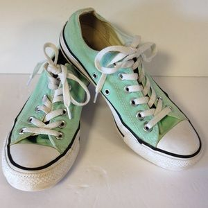 Converse all star mint green shoes sneakers