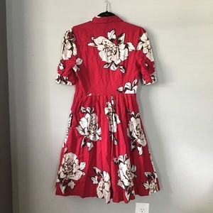 5f37f57d2646d Anthropologie Dresses - Anthropologie Maeve Dagmar red floral Shirtdress