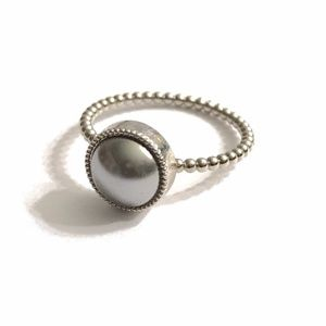LAST ONE! Swarovski Pearl Rings with Silver Band