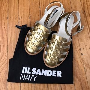 Jil Sander Shoes - JIL SANDER Navy sandals