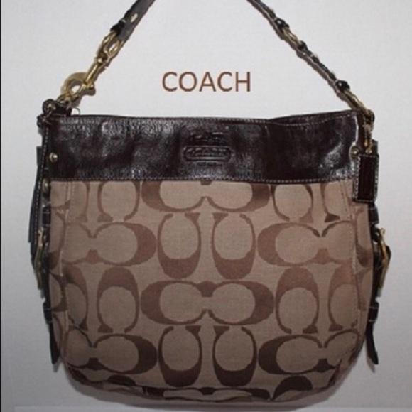e3b427e32a2 Coach Handbags - Coach Zoe Signature Canvas   Leather Handbag