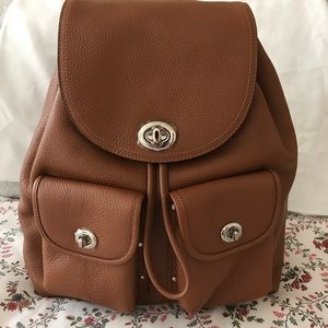 Brand new Authentic Coach leather back pack