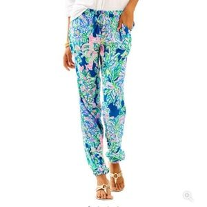 Piper Pull on Lilly pants in Exotic Escapade print